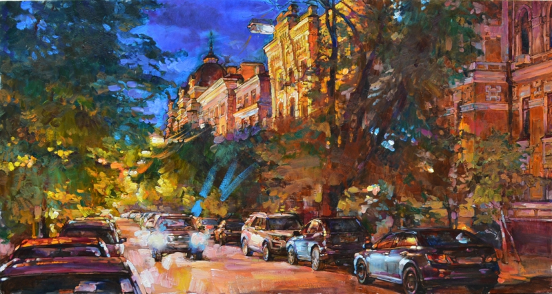 Autumn in Kiev, buy oil painting
