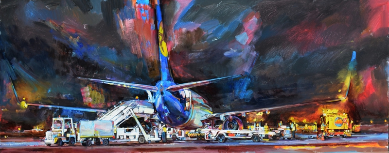 aircraft painting landscape