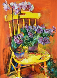 Картина маслом, картина с цветами