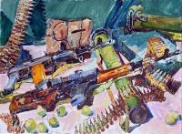 Военный натрморт, картина украинского художника