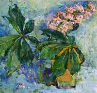 Цветы каштана, картина