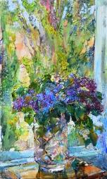 Cирень, картина  украинского художника