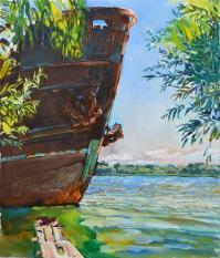 Дунай, картина-пейзаж украинского художника