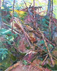 Картина маслом, лес «Бурелом» - заказать картину, купить в Киеве