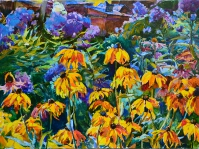 Пейзаж с цветами «Пасека» - купить картину