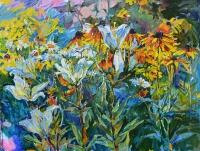 цветочная живопись -летний сад