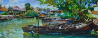 Большой канал,Вилково -купить картину для интерьера