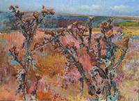 Бессарабия, будяки - пейзаж маслянными красками