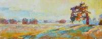 Неманские луга - восход солнца маслом