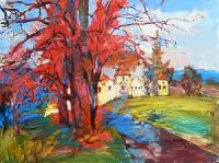 Картина с украинской крепостью «Свирж» - картина Свиржский замок