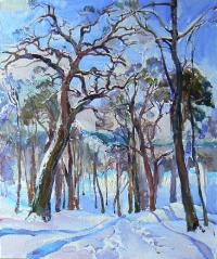 Зимний пейзаж «Лес» - купить картину