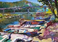 Картина украинского художника «На пляже»
