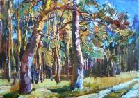 Картина украинского художника «Лес» - картина маслом