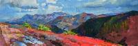 Панорама горных вершин, брусиловская дорога - картина маслом