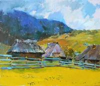 Горы, картина маслом «Синевирская поляна»