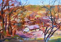 Деревенский пейзаж «На Львовщине» - картина маслом