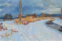 Зима,картина украинского художника