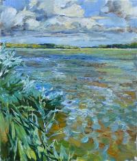 картина река природа