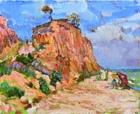картина пляж море