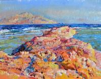 Морской берег, картина маслом
