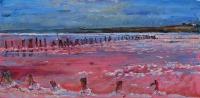 соляное озеро, картина  маслом