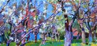 яблоневый сад картина украинского художника