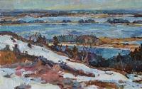 картина река Днепр, пейзаж украинского художнка