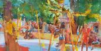 Парк Т.Г. Шевченко,Киев(фрагмент).картина маслом