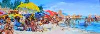 На пляже.картина украинского художника