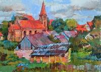 пейзаж Малой Литвы - картина маслом