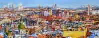 Киев, панорама города- картина маслом