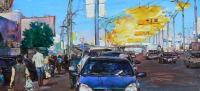 Картина современного художника «Киев, Петровка»