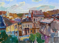 Картины маслом: «Старинный город» - купить картину
