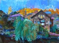 Закат в Бучаче - живопись маслом