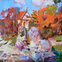 Картины маслом: архитектурный пейзаж «Олесько»