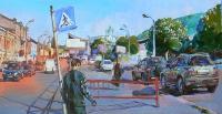 Современная картина маслом «Киев, Житний рынок»