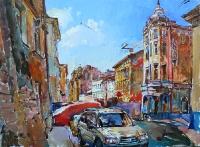 Картины маслом: украинский городской пейзаж «Львов, центр»
