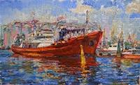 Каботажная гавань, картина корабли