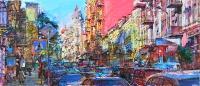 Осень в старом городе,картина маслом