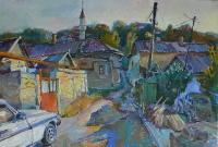 Вakhchisaray,Tatar streets impression art