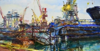 Industrial lanscape by ukrainian artist