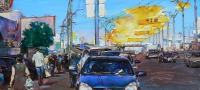"""Kiev, Petrovka"" painting of modern ukrainian artist"