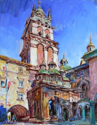 Lviv, city landscape,artwork