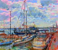 oil paintings of yachts