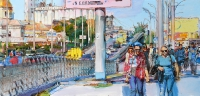 painting viev of Kiev -highway