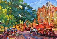 sunny city painting