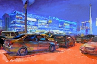 """ Victory Square"" cityscape Kiev,buy painting"