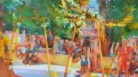 """"""" Shevchenko park, Kiev"""" kids swing"""