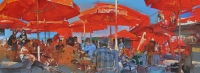 """Summer"" kiev café, oil painting"