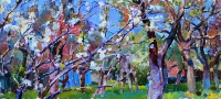 apple trees garden- buy painting by ukrainian artist